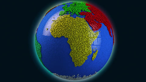 4K Modern Design Earth Spinning Seamless Loop 3D Animation Animation