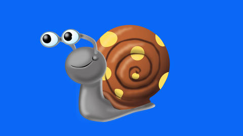 Snail hides in shell Animation