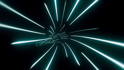 Wormhole through time and space, data technology style Stock Video Footage