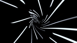 Wormhole tunnel through time and space, data technology style Animation