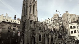 Gothic Church in New York City Footage