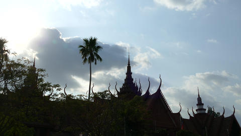 Time lapse from the National Museum of Cambodia Stock Video Footage