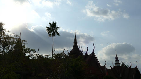 Time Lapse From The National Museum Of Cambodia stock footage