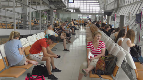 Passengers waiting for the departure Footage