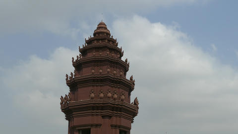 Time alpse from the Independence Monument in Phnom Penh Footage