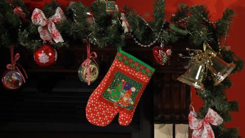 Christmas, New Year interior decor Live Action