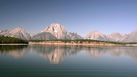 Jackson Lake and Teton Mountains Footage