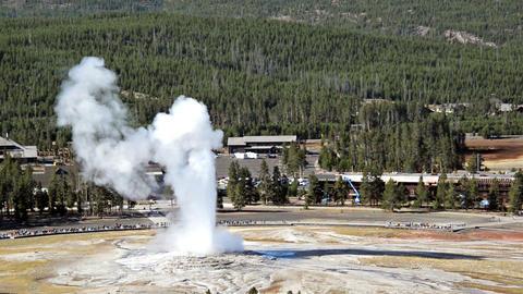 Old Faithful Eruption Footage