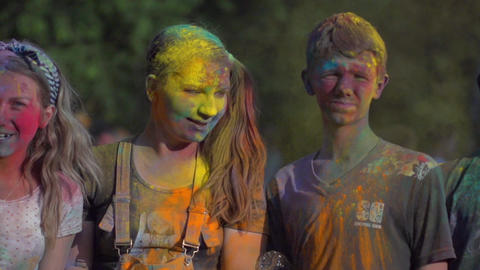 Festival Of Colors Slow Motion stock footage