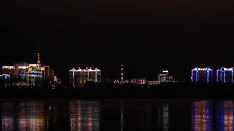 Heihe city nightlife Footage