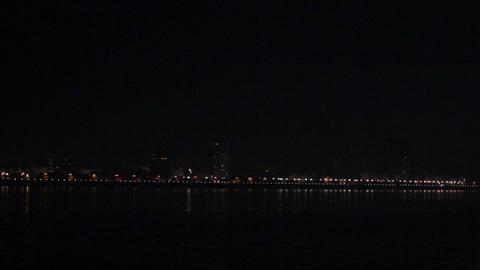 Metropolis. Heihe city nightlife Footage