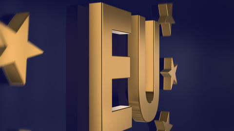 elegant gloden EU 3d animation 4k 11787 Animation