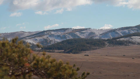 Beautiful Mountain Landscape stock footage