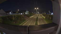 Motion Night Timelapse Of A Highway In Dresden Germany Footage