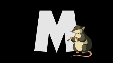 Letter M and Mouse (foreground) Animation