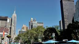 New York City 518 flatiron district pan right to Metropolitan Life Tower Footage