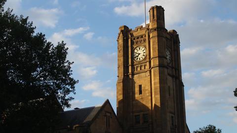 Melbourne Clock Tower Sunset Hyperlapse Footage