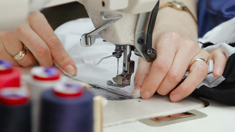 Sewing machine and sewing tools Footage