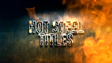 HOT STEEL TITLES After Effects Template
