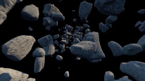 小惑星帯/ループ/マスクあり/ CG動画素材