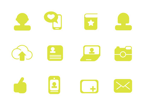 simple icons for web use Photo