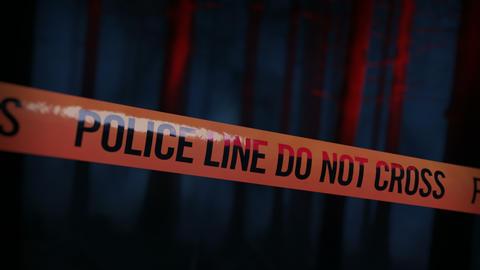 Crime Scene Police Tape Loop 01 Animation