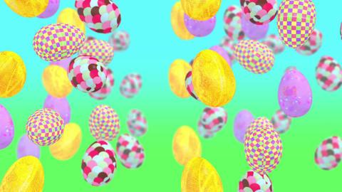 Easter Eggs Flying Image