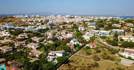 Aerial Drone View Of Lagos Neighborhood And Houses In Portugal Footage