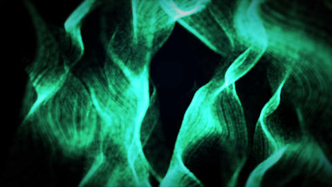 Abstract Green Waves Background Animation