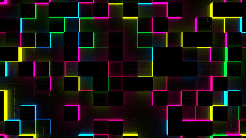 Glow Cubes Background Animation