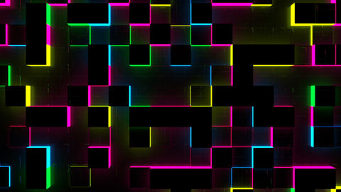 Glow Cubes Background Stock Video Footage