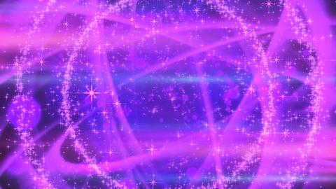 キラキラ爆発エフェクト - パープル/黒背景 CG動画