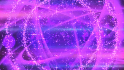キラキラ爆発エフェクト - パープル/アルファ背景 CG動画