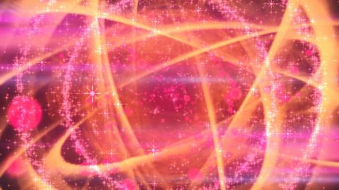 キラキラ爆発エフェクト - レッド/アルファ背景 CG動画素材