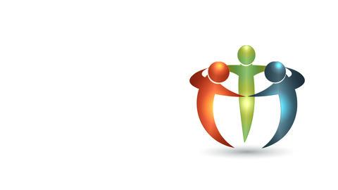 Teamwork business group meeting video animation CG動画素材