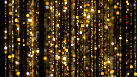 Gold Curtain Chains Stock Video Footage