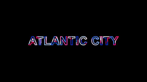Letters are collected in city ATLANTIC CITY, then scattered into strips. Bright Animation