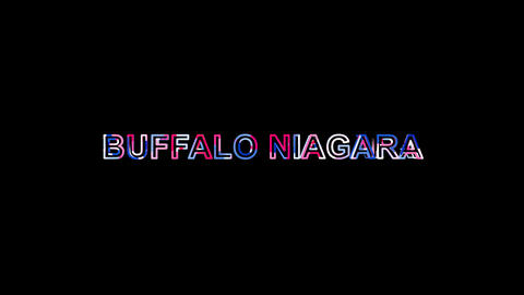 Letters are collected in International Airport BUFFALO NIAGARA, then scattered Animation