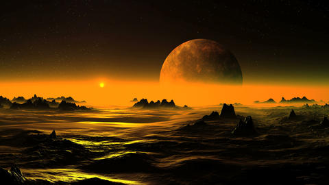 Golden Dawn on Alien Planet Animation