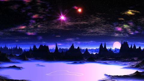 Beautiful Dawn on Alien Planet Image
