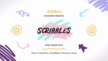 Scribbles Hand Drawn Pack Premiere Proテンプレート
