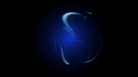 Blue glowing orb on black background Animation