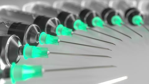 Rotating needles of syringes Footage