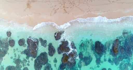 aerial shot sea scenery Live Action