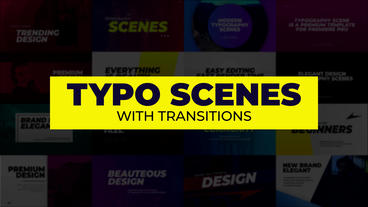 Typo Scenes with Transitions Premiere Pro Template