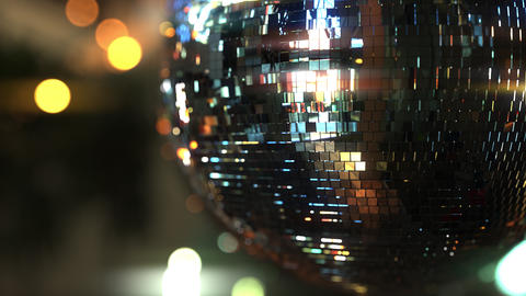 Spinning mirror disco ball Footage
