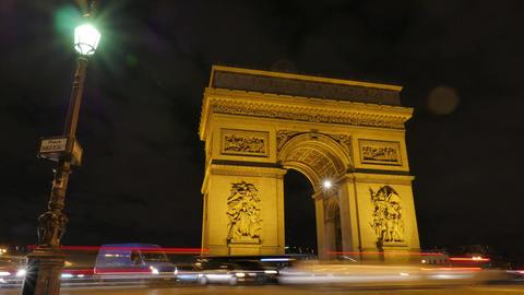 Arc de triumph-Paris France Time Lapse Footage