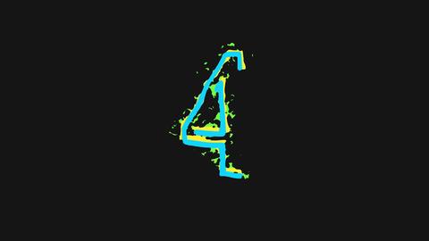 Liquid Digits Animation Stock Video Footage