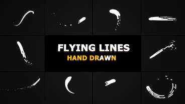 Hand Drawn Flying Lines Premiere Pro Template