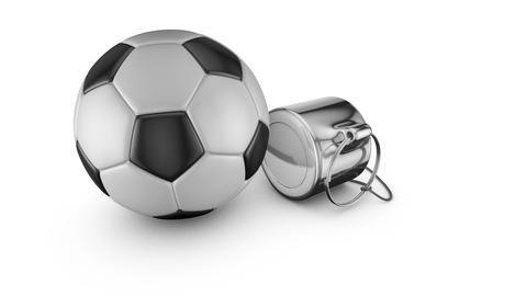 Whistle and soccer ball Animation